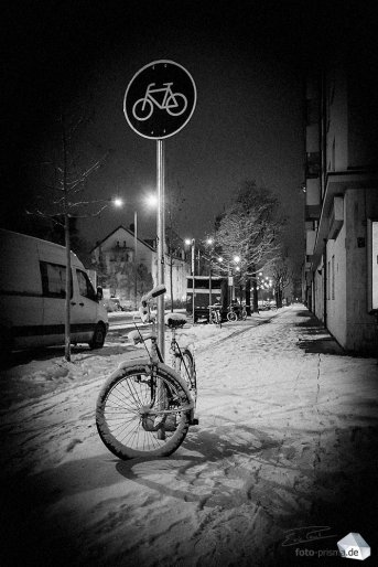 Silent Empty Winter Night - Werinherstraße (Foto: Eric Paul)